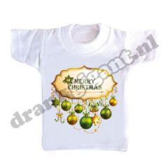 Merry Christmas Flessen T-shirt