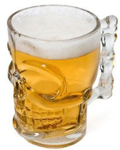 Skull Bierglas Bierbeker