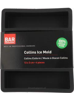 Collins Ice Mold 13x3cm 4 pieces Zwart