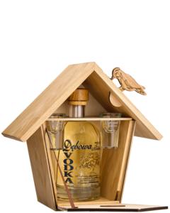 Debowa Polska Vodka Vogelhuis + Shotglazen