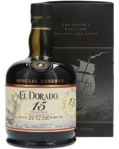 El Dorado 15 Years + Glazen