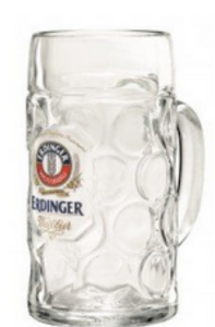 Erdinger Bierpul gedeukt