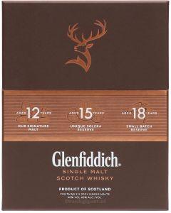 Glenfiddich Collection Box 12/15/18 3x20cl
