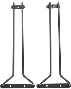 Glazenrek Zwart 300x110 mm (set)