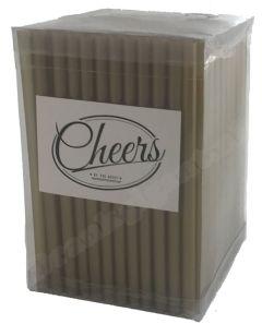 Cheers Straws gold Box 14 cm