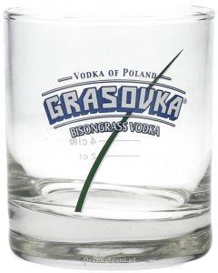 Grasovka Bison Vodka on the rocks Glas