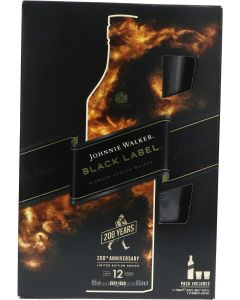 Johnnie Walker Black Label 12 Year 200th Anniversary Giftpack