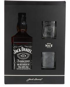 Jack Daniels Giftbox + 2 Glazen
