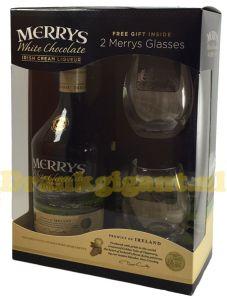 Merrys White Chocolate Irish Cream Liqueur Giftpack