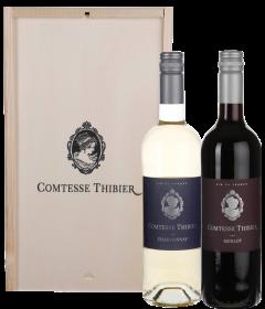 Comtesse Thibier Chardonnay & Merlot Wijnkist