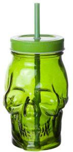 Skull Glas Green