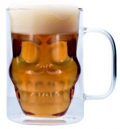 Skull Dubbelwandig Bierglas