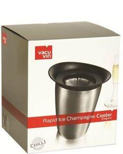Vacu vin Champagnekoeler RVS